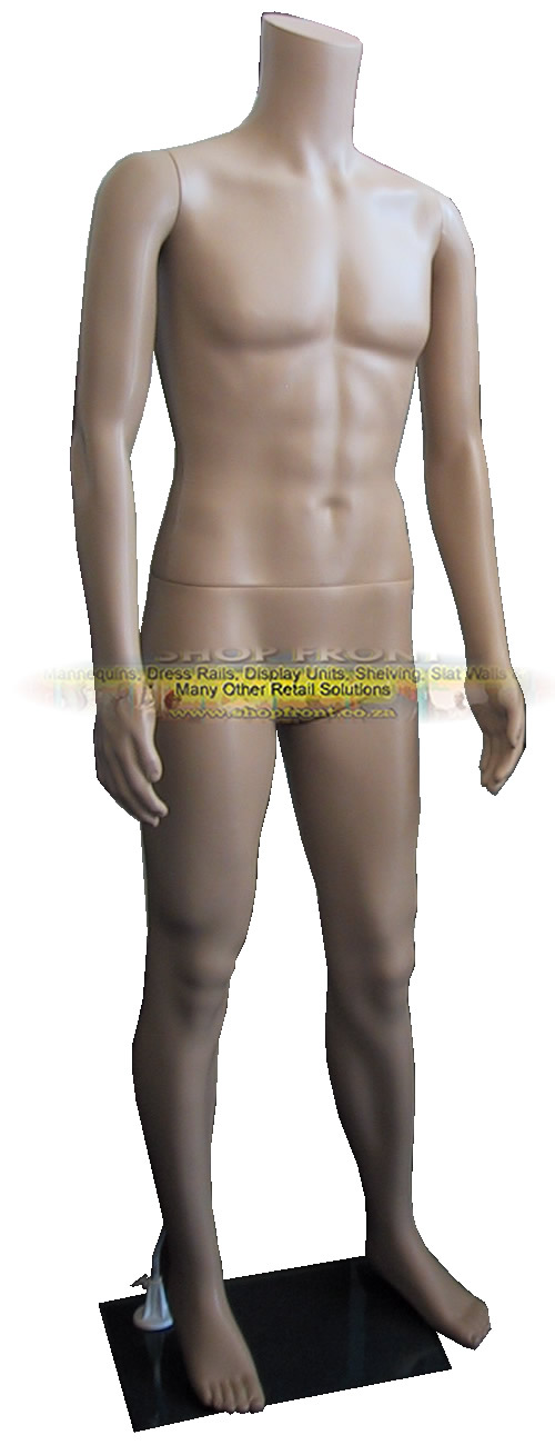 Plastic Headless Male Mannequin