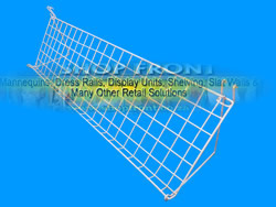 Wire Slopping Grid Mesh Shelf